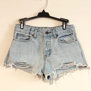 Free People   cutoff destroyed jean shorts, 26
